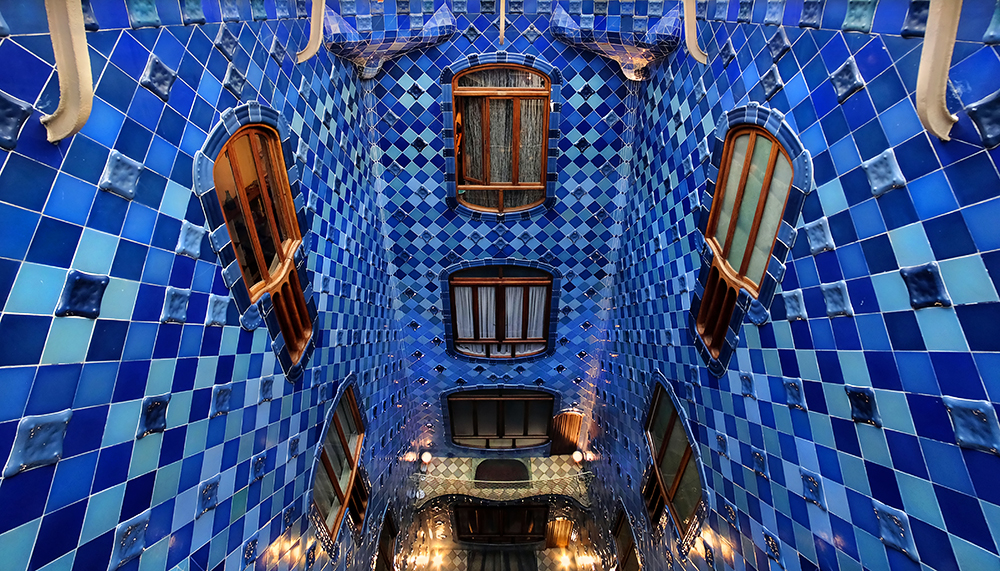 """Behind The Mirror"" - Casa Battló, Barcelona, Catalonia, Spain"