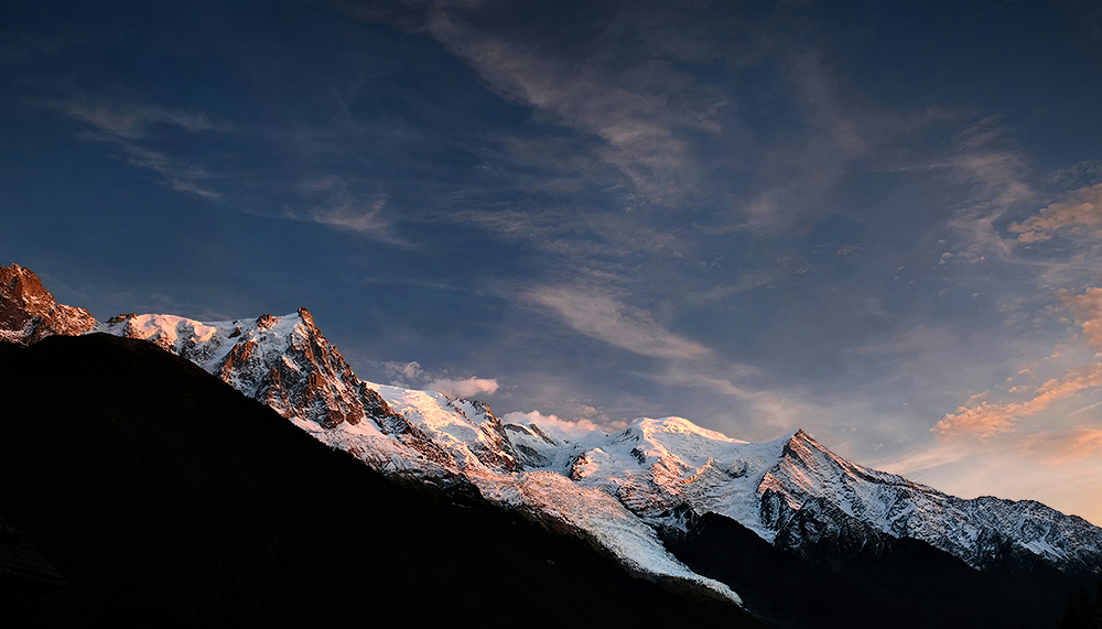 The Mont Blanc massif, France