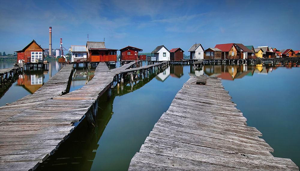 """Floating Village"" - Bokod, Hungary"