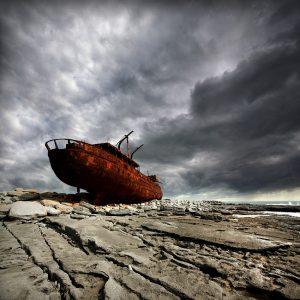 "Ireland 19 - ""The Plassey Shipwreck"", Oirr, Aran Islands"