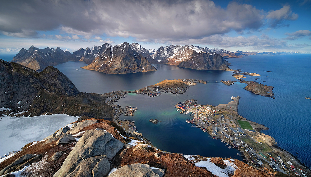 """At the Top of the World"" - Reinebringen, Norway"