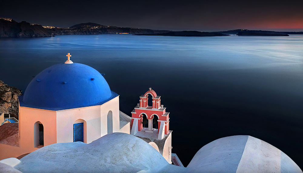 """Santorini Nights"" - Santorini, Greece"