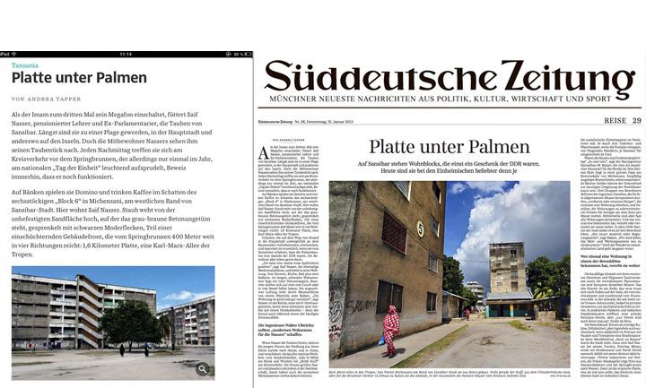 Platte unter Palmen – Suddeutsche Zeitung Magazine