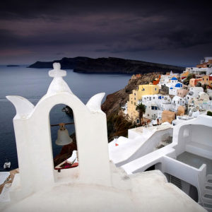 "Santorini, Greece - ""Under The Dark Sky"""