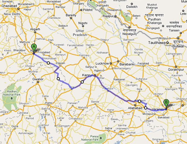 Trasa Agra - Varanasii