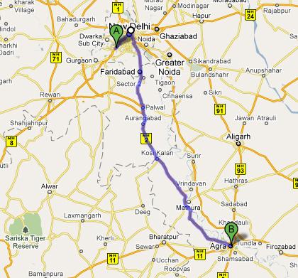 Trasa Delhi - Agra