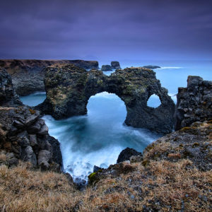 LongExposure25 - Gatklettur Arch, Iceland